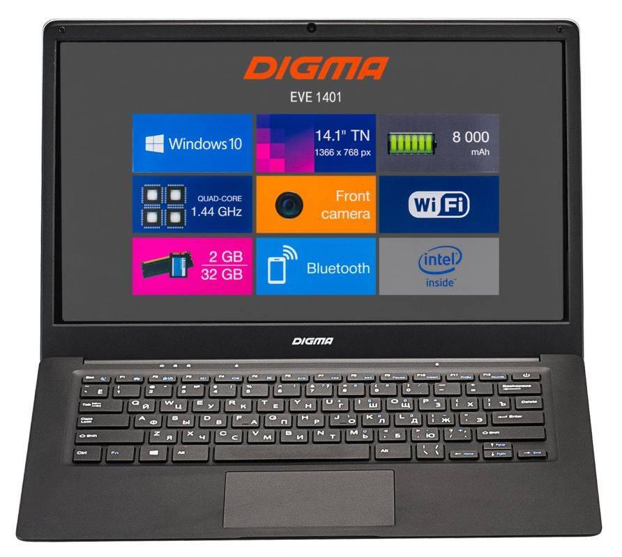 """Ноутбук 14.1"""" Digma EVE 1401 черный/серебристый (ET4012EW) - фото 10"""