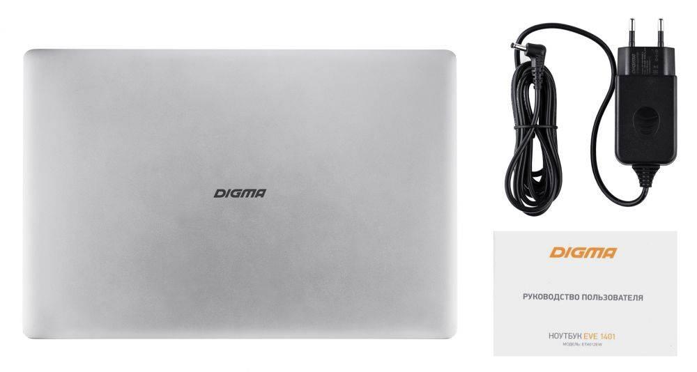 """Ноутбук 14.1"""" Digma EVE 1401 черный/серебристый (ET4012EW) - фото 18"""