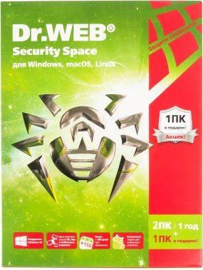 ПО DR.Web Security Space «Трешка» 3 ПК 1 год (AHW-B-12M-3-A3)