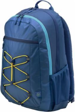 Рюкзак для ноутбука HP Active синий/желтый, синтетика, рекомендуемая диагональ 15.6, не съемный ремень (1LU24AA)