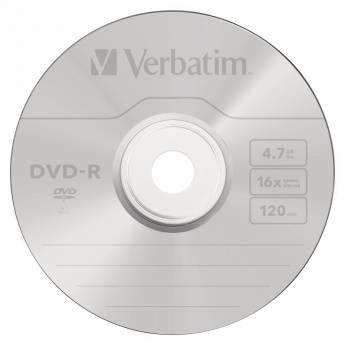 Диск DVD-R Verbatim 4.7Gb 16x (10шт) (43523)