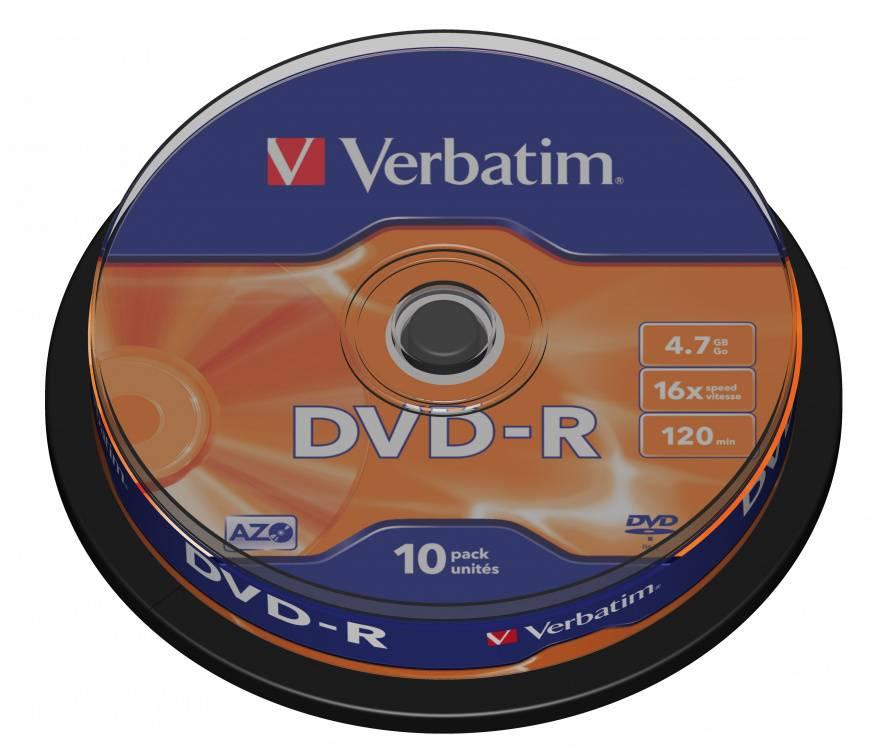 Диск DVD-R Verbatim 4.7Gb 16x (10шт) (43523) - фото 2