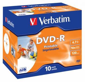Диск DVD-R Verbatim 4.7Gb 16x (10шт) (43521)