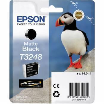 Картридж струйный Epson T3248 черный матовый (C13T32484010)