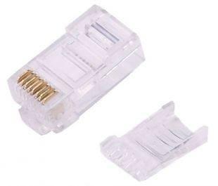 Коннектор медный Osnovo APJ15(100) UTP RJ45 кат.6 (упак.:100шт)