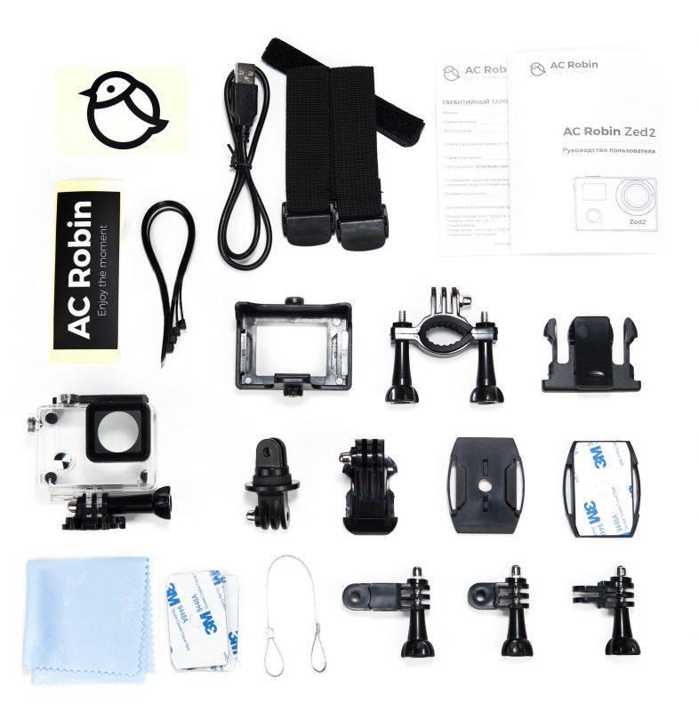 Экшн-камера AC Robin ZED2 черный - фото 8