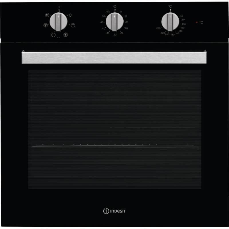 Духовой шкаф электрический Indesit IFW 6530 BL черный - фото 1