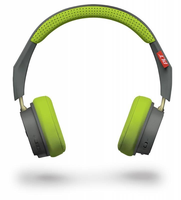 Гарнитура Plantronics BackBeat 500 серый/зеленый - фото 2