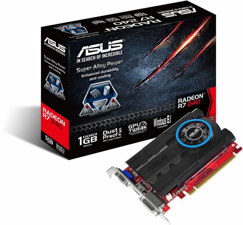 Видеокарта Asus Radeon R7 240 1024 МБ (R7240-1GD3) - фото 3