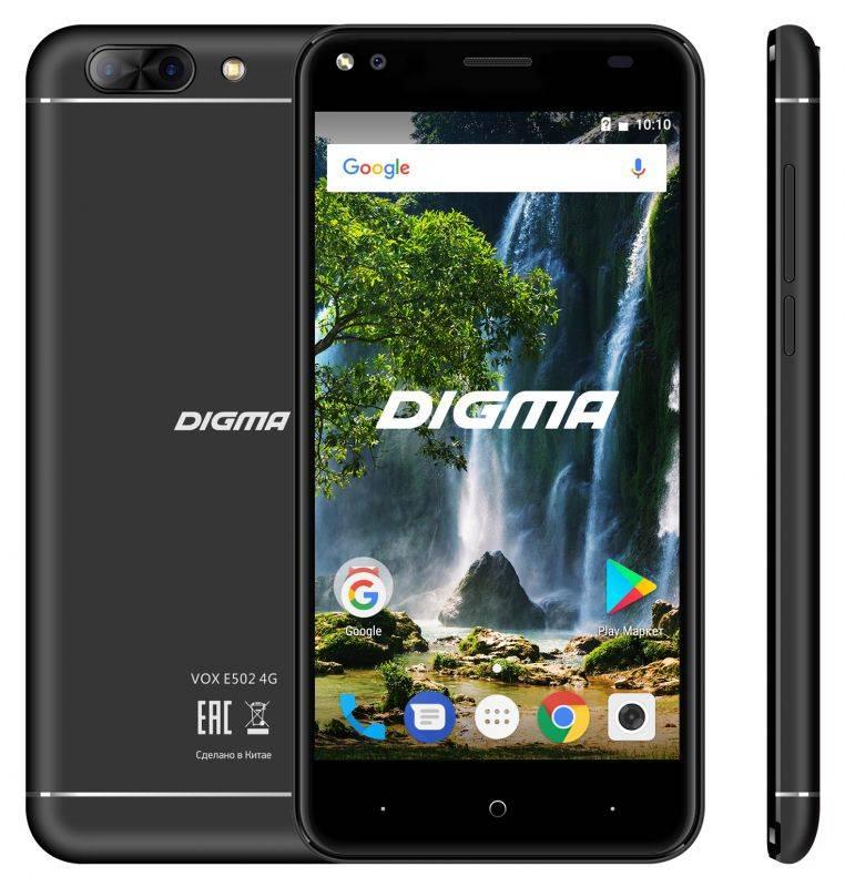 Смартфон Digma E502 4G VOX 16ГБ черный - фото 3