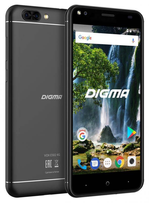 Смартфон Digma E502 4G VOX 16ГБ черный - фото 4