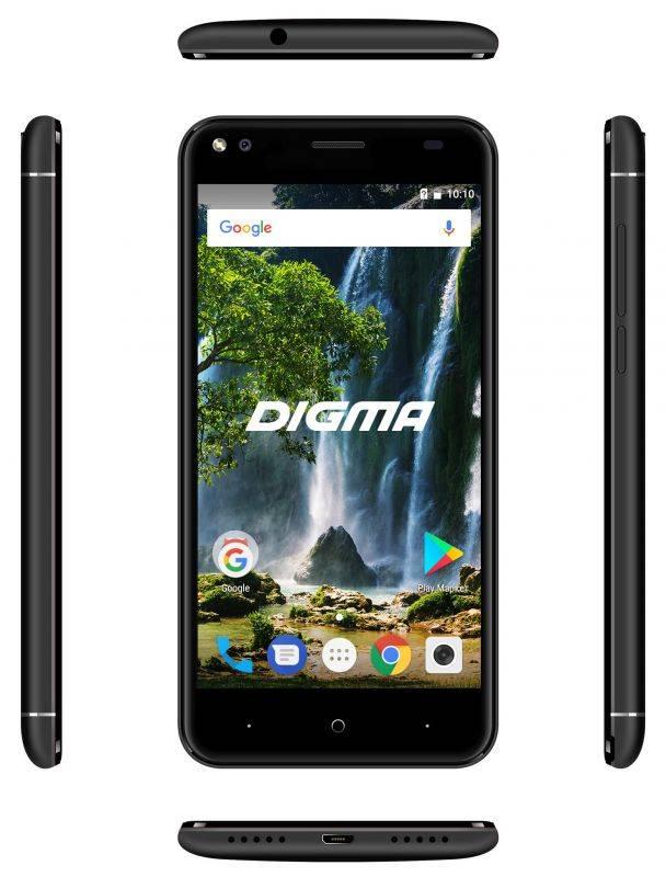 Смартфон Digma E502 4G VOX 16ГБ черный - фото 5