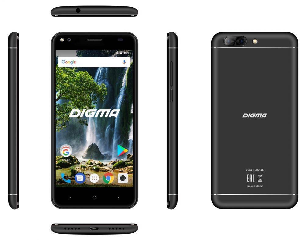 Смартфон Digma E502 4G VOX 16ГБ черный (VS5036PL) - фото 6
