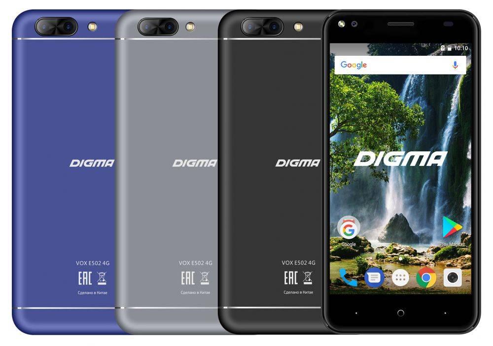 Смартфон Digma E502 4G VOX 16ГБ черный (VS5036PL) - фото 7