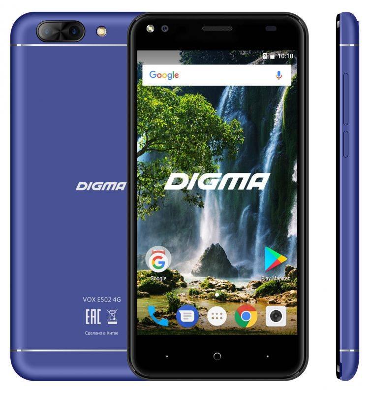 Смартфон Digma E502 4G VOX 16ГБ темно-синий (VS5036PL) - фото 3