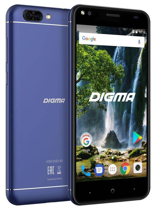 Смартфон Digma E502 4G VOX 16ГБ темно-синий (VS5036PL) - фото 4