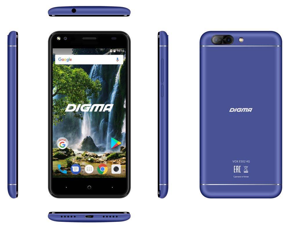 Смартфон Digma E502 4G VOX 16ГБ темно-синий (VS5036PL) - фото 6