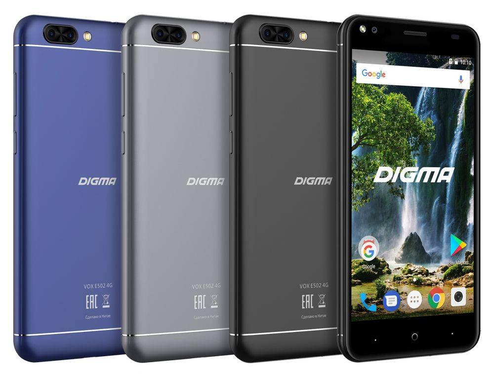 Смартфон Digma E502 4G VOX 16ГБ темно-синий (VS5036PL) - фото 8