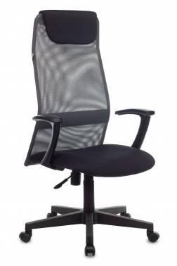 Кресло руководителя Бюрократ KB-8 / DG / TW-12 серый