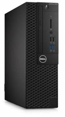 ПК Dell Optiplex 3050 черный/серебристый, процессор Intel Pentium G4560, оперативная память 4Gb, жесткий диск 500Gb 7.2k, видеокарта Intel HD Graphics 610, привод DVDRW, small form factor, Windows 10 Professional, Eth, в комплекте клавиатура+ мышь