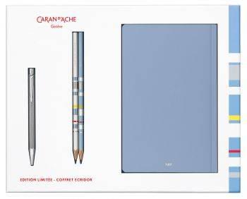 Набор Carandache Ecridor (CC0890.017) ручка шариковая в компл.:2 чернографитных карандаша / 2 записные книжки