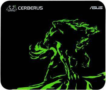 Коврик для мыши Asus CERBERUS MAT MINI черный/зеленый (90YH01C4-BDUA00)