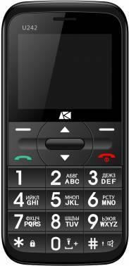 Мобильный телефон ARK U242 черный