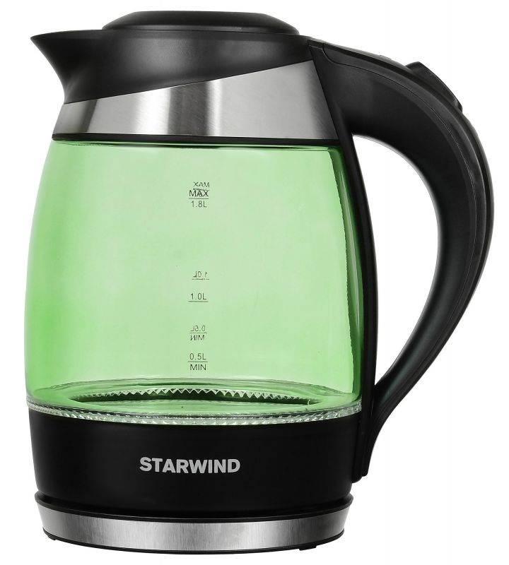 Чайник электрический Starwind SKG2213 зеленый/черный - фото 1