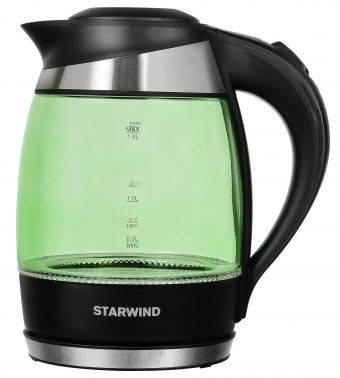 Чайник электрический Starwind SKG2213 зеленый/черный