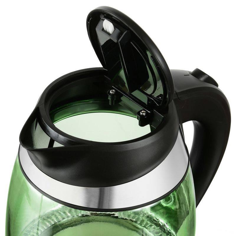Чайник электрический Starwind SKG2213 зеленый/черный - фото 2