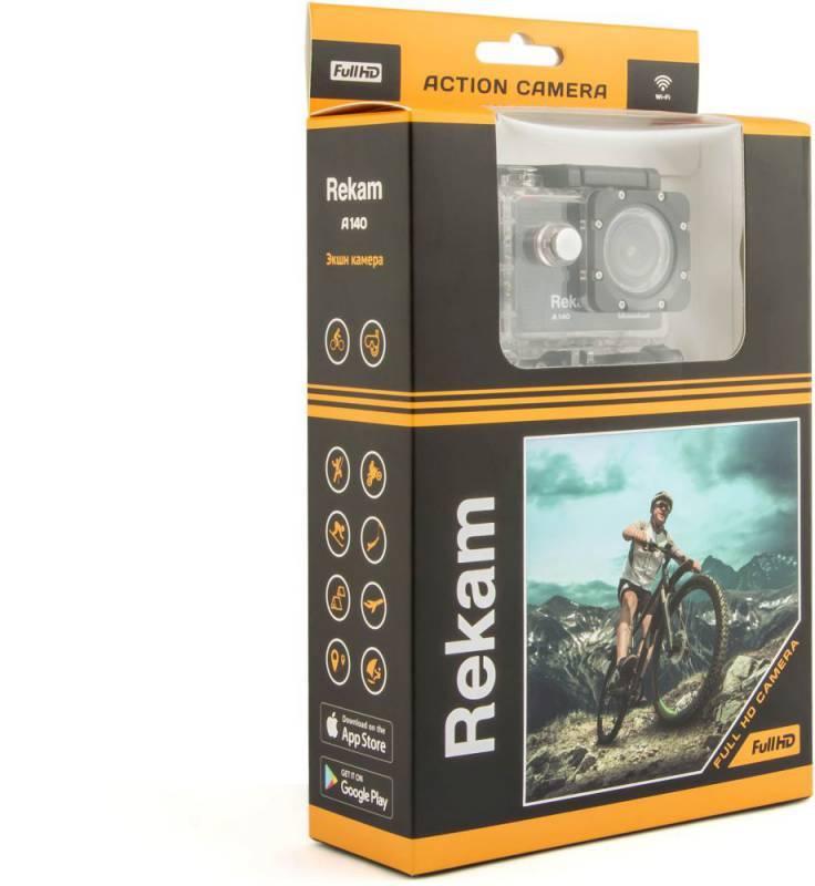 Экшн-камера Rekam A140 черный (2680000005) - фото 3