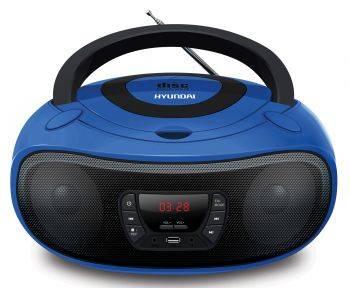 Магнитола Hyundai H-PCD240 синий/черный