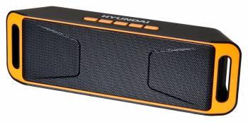 Колонка портативная Hyundai H-PAC160 черный/оранжевый
