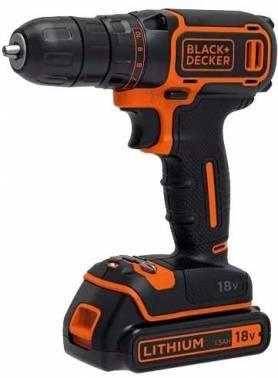 Дрель-шуруповерт Black & Decker BDCDC18KB-QW, патрон: быстрозажимной, питание от аккумулятора Li-Ion 18В