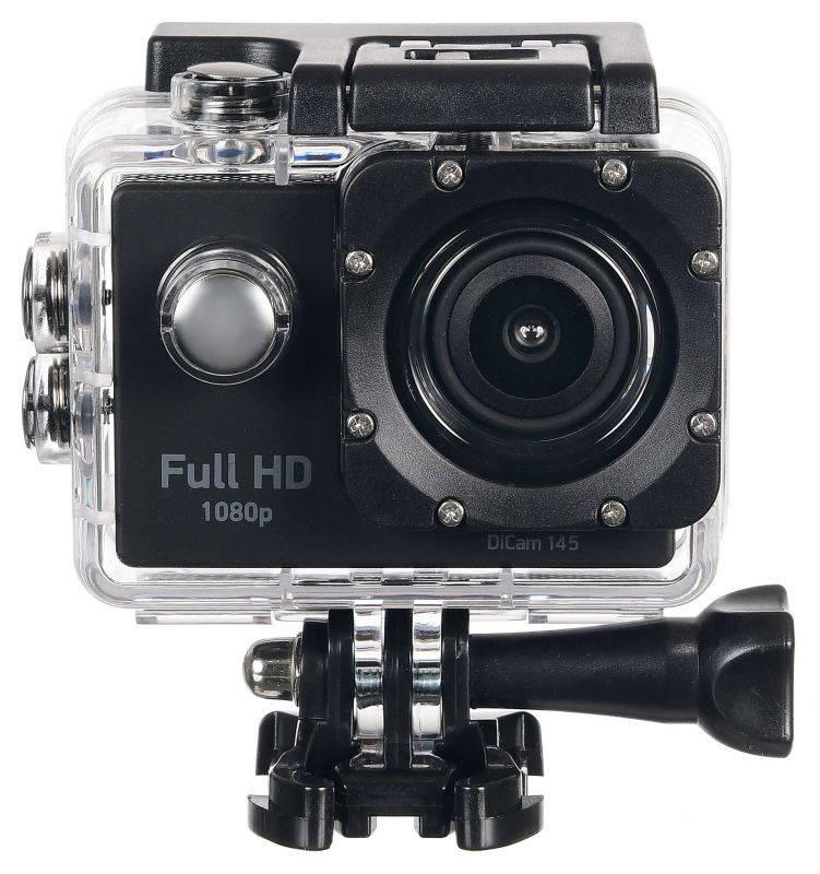 Экшн-камера Digma DiCam 145 черный (DC145) - фото 11