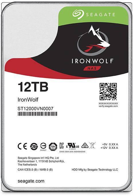 Жесткий диск 12Tb Seagate Ironwolf ST12000VN0007 SATA-III - фото 1