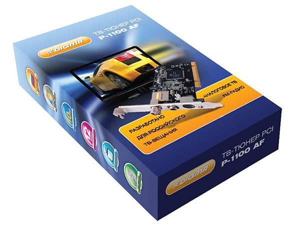 ММ карта TV-Tuner PCI Digma P-1100AF analogue (FM, RC) - фото 3