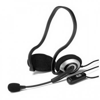 Наушники с микрофоном Creative HS-390 серебристый / черный