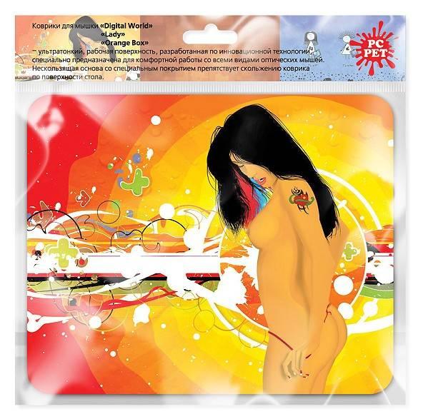 Коврик для мыши PC Pet MP-GL LASER Lady рисунок (MP-GLLA LASER (LADY)) - фото 2