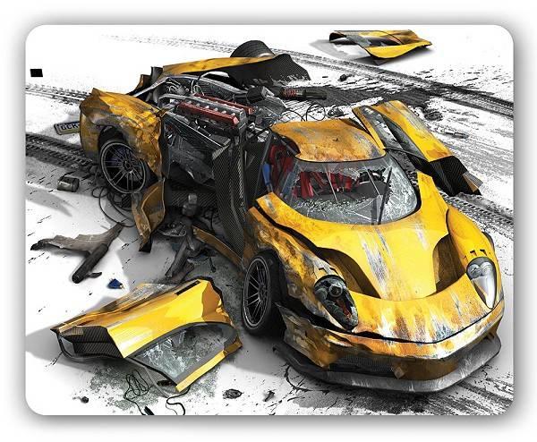 Коврик для мыши PC Pet Yellow car MP-GM02 Gamer рисунок - фото 1
