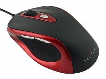 Мышь Oklick 404 M черный/красный