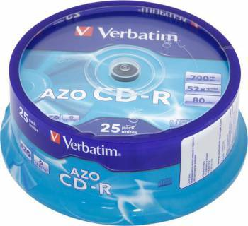 Диск CD-R Verbatim 700Mb 52x (25шт) (43352)