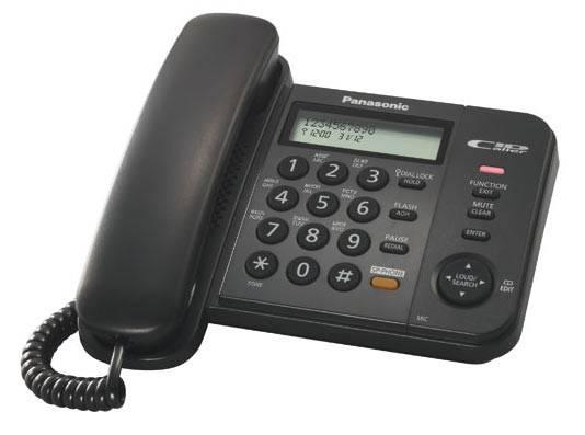 Телефон Panasonic KX-TS2358RUB черный - фото 1