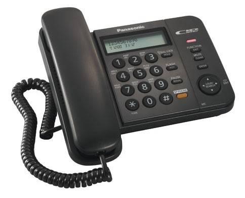 Телефон Panasonic KX-TS2358RUB черный - фото 2