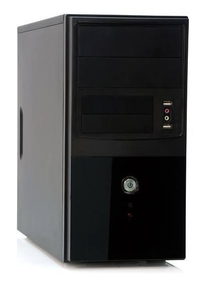 Корпус mATX 400W Foxconn KS-288 черный/серебристый - фото 1