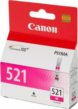 Картридж струйный Canon CLI-521M 2935B004 пурпурный