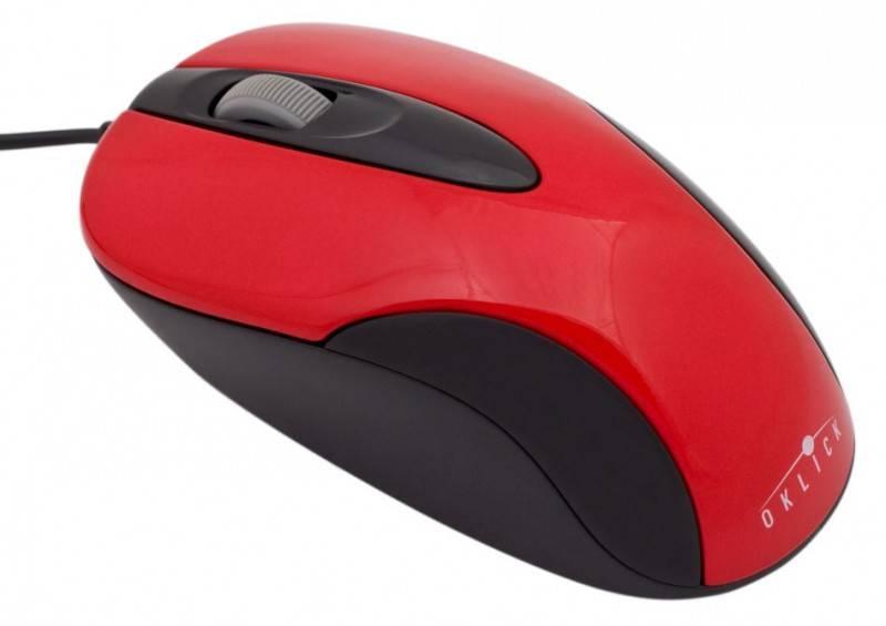 Мышь Oklick 151 M красный/черный - фото 1