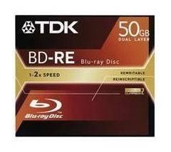 Диск BD-RE TDK 50Gb 2x (1шт) (T19450) - фото 1