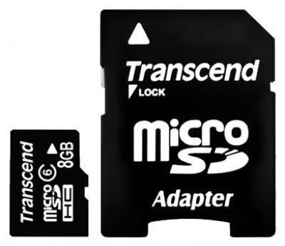 Карта памяти microSDHC 8Gb Class6 Transcend TS8GUSDHC6 - фото 1