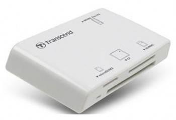 Картридер USB2.0 Transcend TS-RDP8W белый